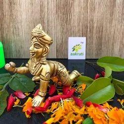 Baby Krishna - Laddu Krishna - Thakur Ji - Bal Krishna - Metal Brass Krishna Figure