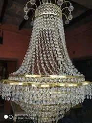 Cylindrical Ceiling Crystal Jhoomar for Decoration