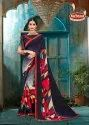 Printed Weightless Saree with Lace - Sanaya