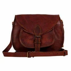 Plain Shoulder Handbag Ladies Leather Bags