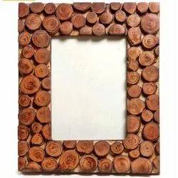 Sheesham Wood Polished Wooden Photo Frame, Packaging Type: Box