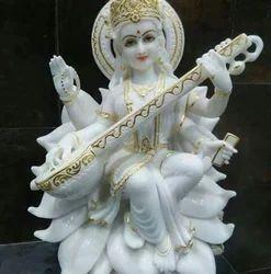 Marble Sarswati Mata Statue