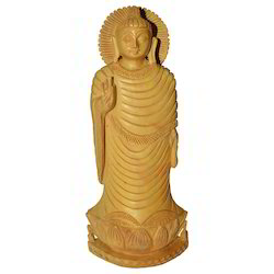 Wooden Natural Lotus Buddha Statue
