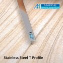 Stainless Steel Blue Mirror T Profile Patti