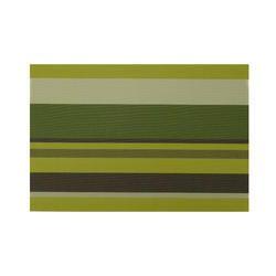 Zarnik Forest Green Stripes Table Mat PVC 45x30 cm, Forest Stripes, Size: 45 X 30