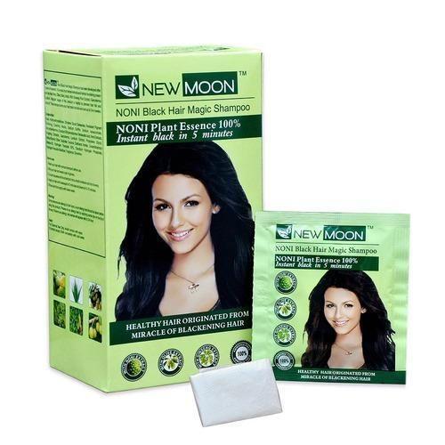 New Moon Unisex Noni Black Hair Shampoo, Pack Size: 20 Ml