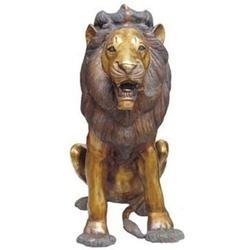 Lion sculpture made in Brass Metal Statue Big Lion Sitting Statue