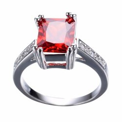 Red Ruby Ring with Natural Manik Stone Lab Certified
