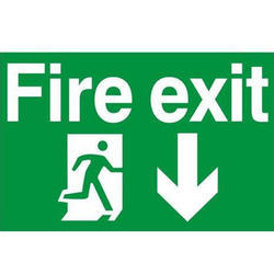 Night Glow Fire Safety Sign