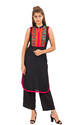 Sleeveless Embroidered Kurti