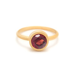 Garnet Hydro Engaged 925 Sterling Silver Birthstone Finger Jewelry Gold Plated Rubelle Ring