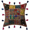 Cotton Patchwork Cushion Cover