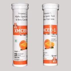 Vitamin C 1000mg, Alpha Lipoic Acid 100mg, Beta Carotene 30mg Effervescent Tablet