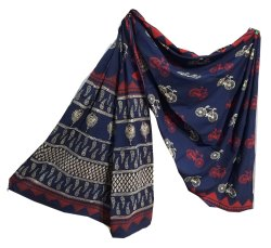 Cotton Mulmul Saree With Blouse