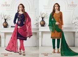 Round Cotton Nyssa Embroidered Salwar Suit