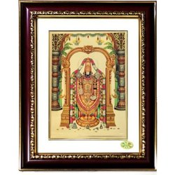 Rectangular Sri Venkateswara Synthetic Photo Frame