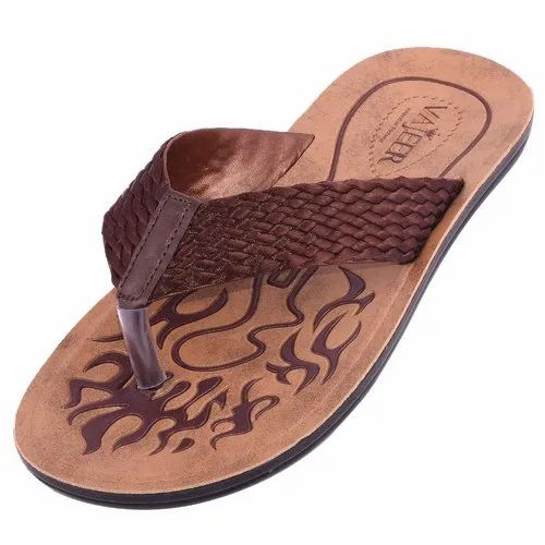 8fea6af25 Brown Lightweight Comfortable Sole Vajeer Womens PU Slippers, Packaging  Type: Box