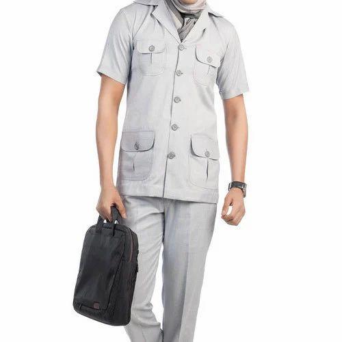 Mens Polyester Safari Suit Rs 1500