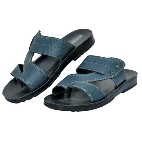 Blue Leather Slippers, Rs 205 /pair K.S