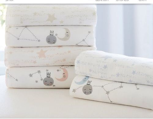 Usa Baby Muslin Kids Double Cloth Free Receiving Swaddles, Fleece Blanket  For Kids, Quilted Blankets