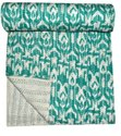 Indian Printed Cotton Kantha Quilt