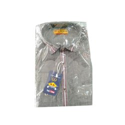 Collar Neck R B Brand Mens Formal Shirt, Packaging Type: Packet, Hand Wash