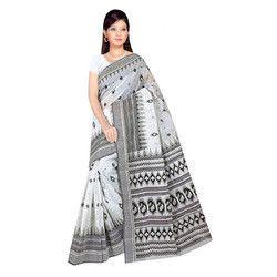 Designer Print Cotton Saree