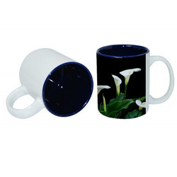 Printed Coffee Mug Blue
