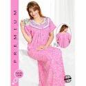 Ladies Half Sleeve Cotton Printed Nighty