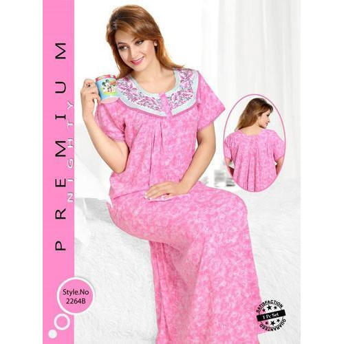 9e61567ec4 Ladies Half Sleeve Cotton Printed Nighty, Rs 365 /piece, Lizzie ...