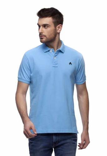 0416f4f7 Grosella Sky Blue Men Polos T Shirt