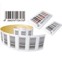 White Printed Barcode Labels
