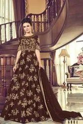 women oracle Ethnic Smashing Sienna Bride Net Bollywood Style Party Wear Gown, Size: Large