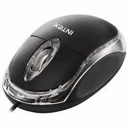 Black Intex Magic USB Wired Optical Mouse