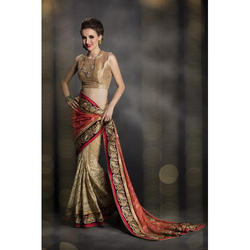 Bollywood Net Embroidery Saree