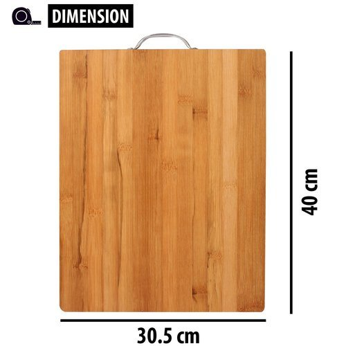 Bamboo Wodden Chopping Board With Handle Large Size 40 X 30 X 18 Cm