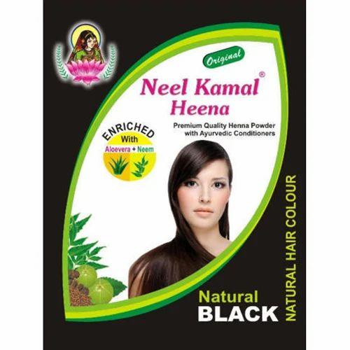 Neel Kamal Heena Natural Black Hair Color For Personal Usage