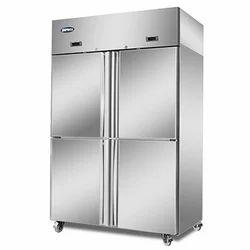 Elanpro Silver 4 Door Vertical Refrigerator, Capacity: 1200 Litres