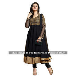 The RCPC Designer Ethnic Black Net Anarkali Suit