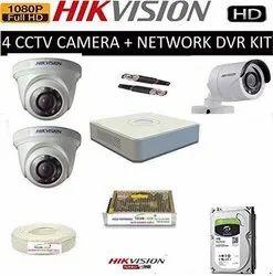 HIKVISION Full HD 2MP Cameras 4CH HD DVR 1 Bullet Cameras 2 Dome Cameras Combo