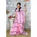 Cotton Printed Pink Stylish Casual Tone Saree, 6 M (with Blouse Piece)
