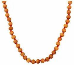 Kesar Zems Sandlewood Rosary Mala (8 cm x 35 cm x 1 cm, Brown)