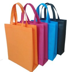 Plain Biodegradable Non Woven Loop Handle Bag, Capacity: 5 Kg, Size: 9x12 To 16x20 Inch