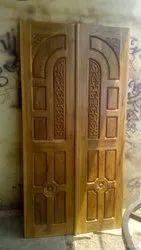 Wood Exterior Wooden Decorative Double Door