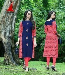 Rayon Casual Wear Ladies Ethnic Kurti