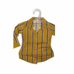 Striped Kids Cotton Casual Shirt, Packaging Type: Packet