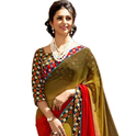 Party Wear Synthetic Saree