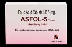 Folic Acid 5 mg ( Asfol-5 Tablets)