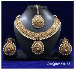 Designer White Pearls Necklace Set