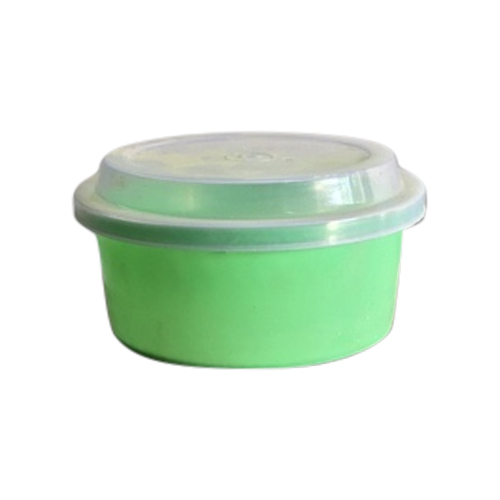 Shree Plast Green Plastic Round Storage Container Capacity 500 Gm